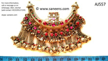 afghan jewelry, kuchi ethnic choker