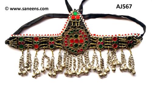 Afghan forehead jewelry