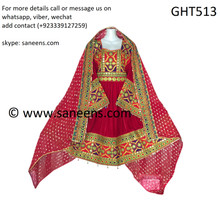 New afghan fashion dress in red color