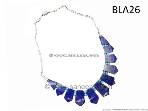 afghan lapis stone necklace