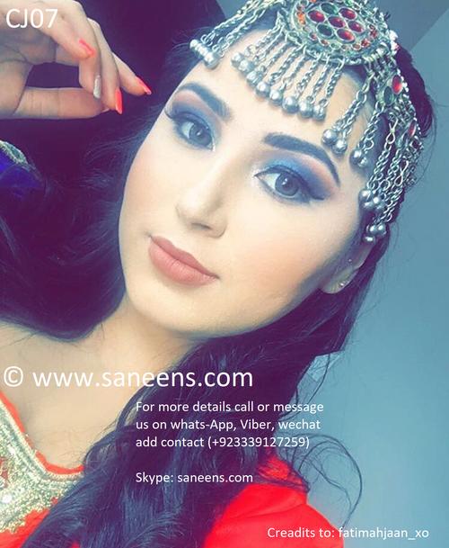Afghan bridal jewellery for head
