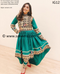 New afghan bridal fashion kuchi bridesmaids dress in green color