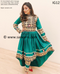 new fashion traditional dress in green color for kuchi weddings