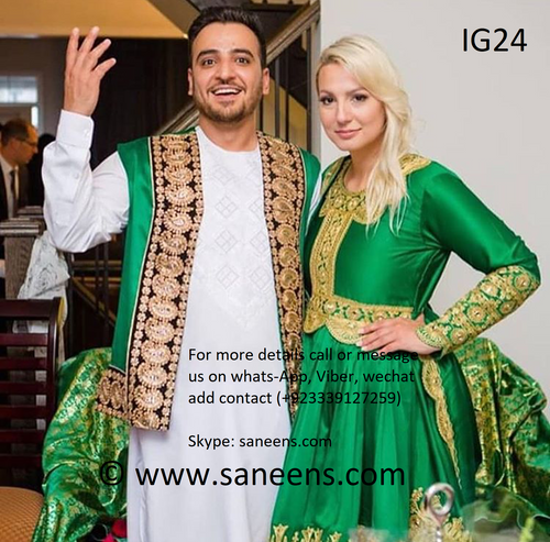 New afghan fashion kuchi couple clothes by saneens.com