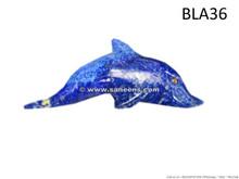 handmade afghan lapis stone dolphin artifact