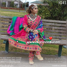 pathani frock with beautiful embroidery