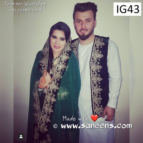 New afghan fashion brides couple clothes