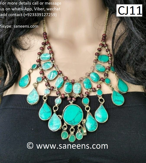 New afghan fashion vintage style Turkmenistan jewels
