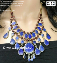 Afghan turkish choker in lapis stone beautiful design