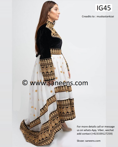 New pashtun style bridal fashion clothes