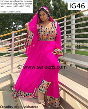 New afghan fashion tribal pink dress