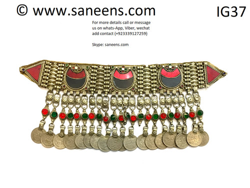 NEW afghan traditional kuchi necklace by saneens