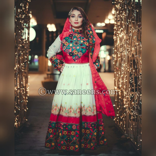 buy new traditional simple embroidery nikkah dress