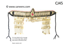 Traditional afghan azaragi bridesmaids jewellery for head