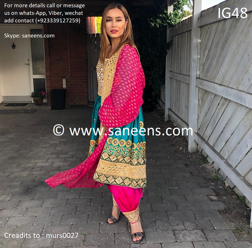 New Afghan fashion online  3 piece suit