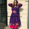 New afghan tribal simple kuchi frok for girls in  dark blue color