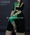 New cultural afghan embroidery long gown in green color