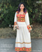 Afghan bridals kuchi saneens white embroidery clothes