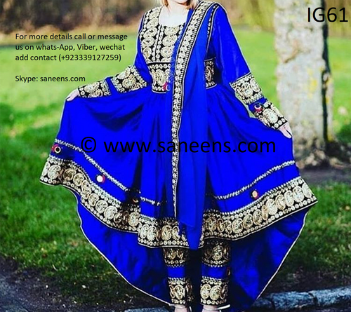 New afghan kuchi bridals online  attan frock for sale