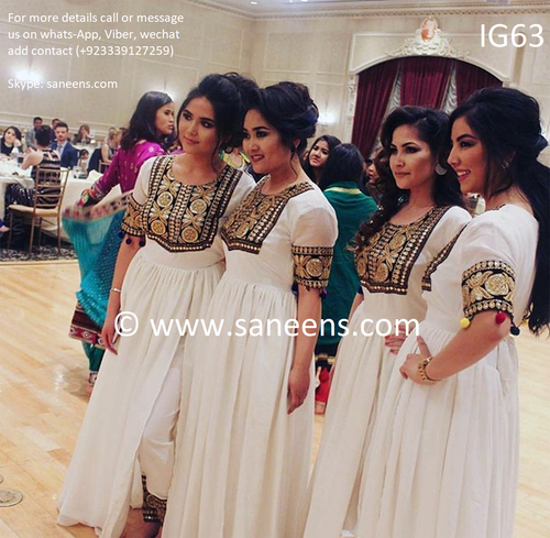 New henna night simple embroidery clothes for culture