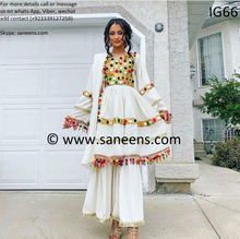 New traditional white clothes for pashtun people