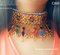 New afghan simple golden choker for girls