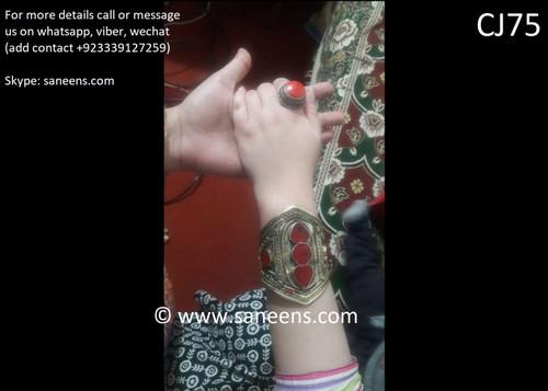 Afghan simple kuchi turkmen jewellery for girls