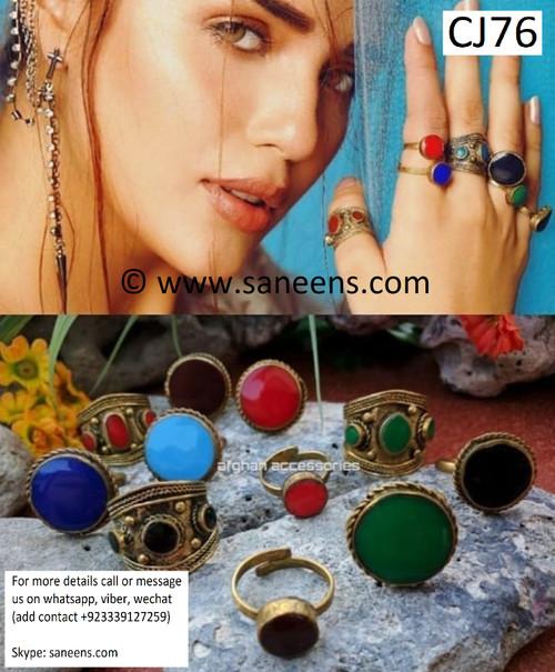 New afghan fashionable boho turkmen rings