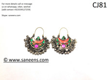 Afghan fashion boho new earrings in white color