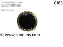 afghan kuchi simple rings in black stone
