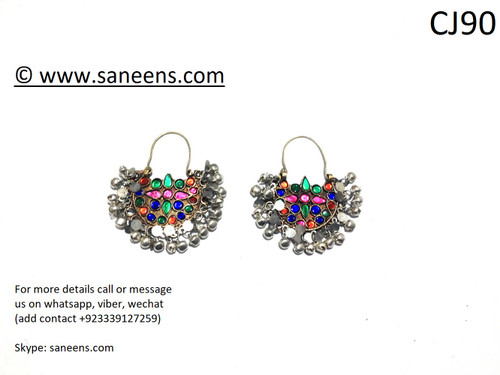 Saneens online bridals kuchi earrings by saneens