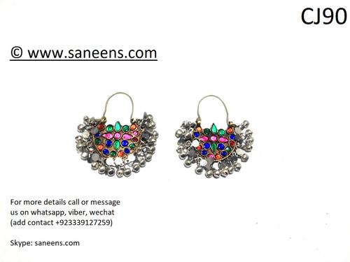 Saneens online bridals kuchi earrings by saneens