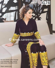 New afghan traditional kuchi embroidery custom order dress
