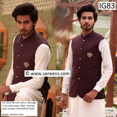 New traditional simple style clothes and vest for men