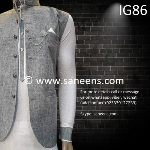 New pashtun style online silver vest for men