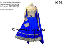 New afghan clothes in blue color