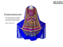 New traditional afghan pathani hard embroidery  cultural dress in multi color