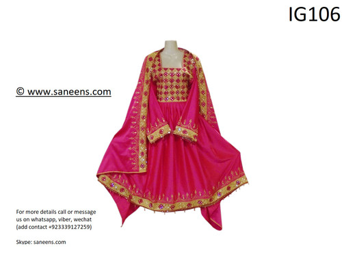 New traditional afghan kuchi clothes  in pink color
