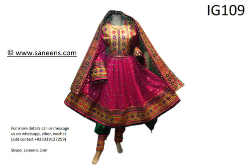 New afghan ethnic nomad style pink dress
