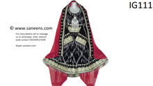 Traditional afghan nikkah dress with polli chain work