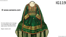 New afghan women clothes in green color