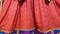 afghan fashion red color dress