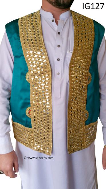 New Afghan bridals groom vest
