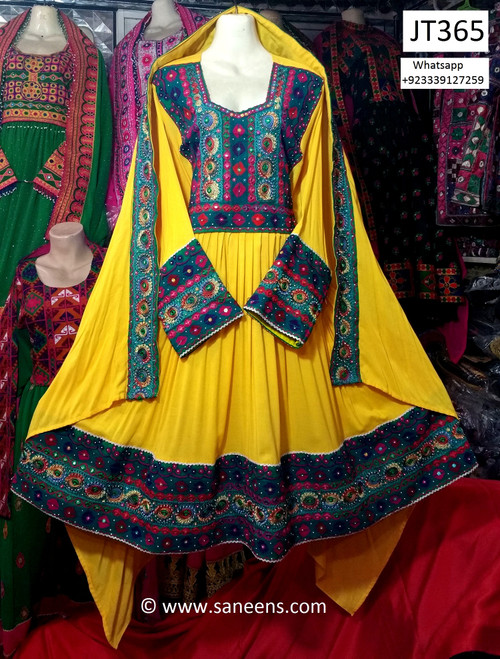 afghan clothes with beads work