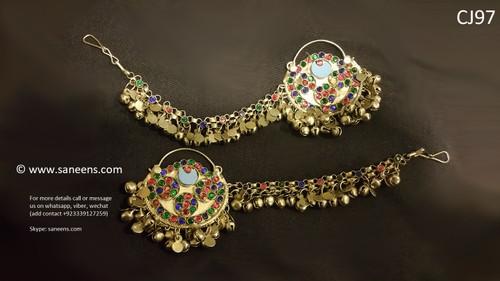 New Afghan vintage style kuchi sahara bali earrings