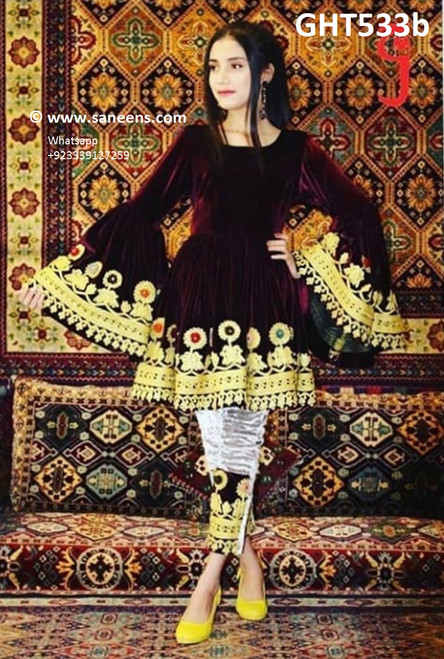 afghani dress new style, pathani clothes, pashtun bridal frock