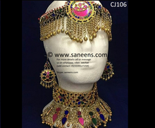 New afghan online bridals golden jewellery set