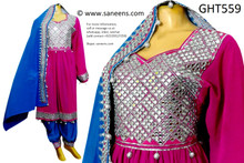 afghan fashion dress, mirros work pashtun bridal clothes