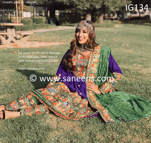 New Afghan  embroidery clothes by saneens