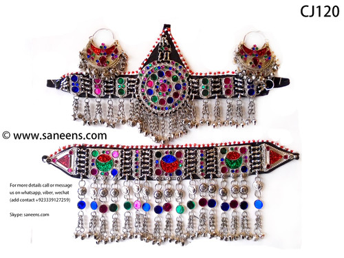 New afghan fashion ethnic white jewelry set